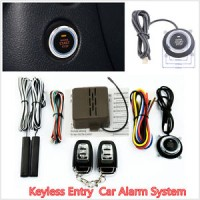8pcs Auto SUV Alarm System Keyless Entry Engine Start Push Button Remo