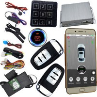 pke gsm&gps car security alarm system with mobile app control password