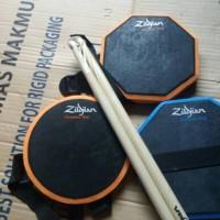 Jual pad drum 6 inchi murah bonus stick sepasang bisa di ikat Murah