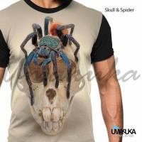 Jual kaos 3D fullprint premium - skull & spider Murah