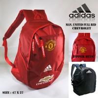 Jual Tas Ransel Backpack Distro Bola Sekolah Pria Manchester United FullRed Murah