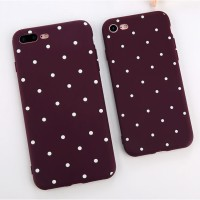 Polkadot Dots Soft TPU Cases Back Cover Iphone 5 5s SE 6 6s 7 Plus