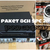 PAKET CCTV 8CH 2 MP SPC KAMERA FULL HD 1080  KOMPLIT HDD 1000GB