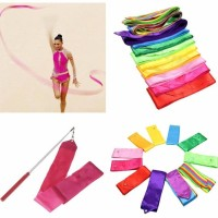 4M Dance Ribbon Multi-color Streamer Training Ballet Gymnastic Rod Art
