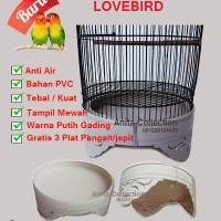 harga Tebok Sangkar Lovebird Pvc Putih Tokopedia.com