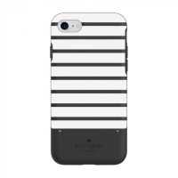 Kate Spade New York iPhone 7 Credit Card Case - Stripe Black/White