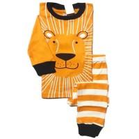 Piyama Tangan Panjang Baju Tidur Anak Laki Murah GAP H.K - Orange Lion