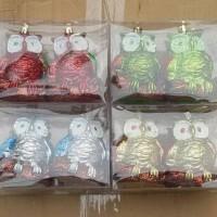 Jual Aksesoris Hiasan Natal Ornamen Bola-bola Burung Hantu Murah