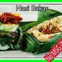 Nasi Bakar Ayam Jamur Porsi 1/2 Plus Sambal Goreng Cengek