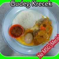 Nasi Gudeg Krecek Plus Telor Tanpa MSG/Mecin