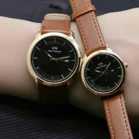 Jual DW Fogg Brown : jam tangan couple kulit ( alba rolex fossil seiko dkny Murah