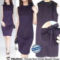 Dress pita ungu The Limited purple bow dress
