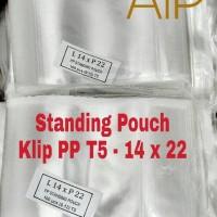 Standing Pouch 14 x 22 Plastik klip pp penyimpan makanan minuman