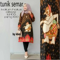 DRESS TUNIK BATIK SEMAR TUNIK HIJAB MURAH