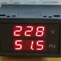 Jual VU METER 300V AC + FREQUENCY 35-65 Hz LED Murah