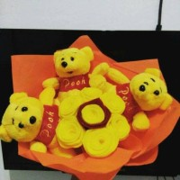 Jual SALE bucket pooh / boneka pooh/ bouqet pooh murah Murah