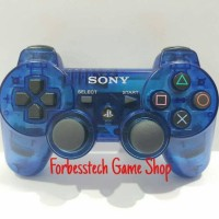 Stick Stik Sony PS3 Original Mesin Refurbished - Biru Transparan