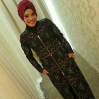 Long Dress Batik 2 in 1 Tenun Endek Troso Super Halus