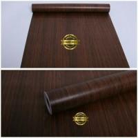 Walpaper Sticker Dinding Motif Serat Kayu Coklat Unik Ukuran 45cm X 10