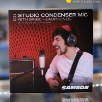 Samson C01 /SR850 - Condenser Mic With Headphone Bundle Pack