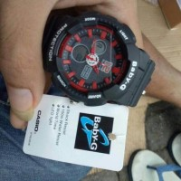 Jual Jam Tangan Wanita Casio G-Shock Baby-G Bga 120 Black Red 2 Stjm85