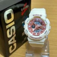 Jam Tangan Wanita Casio G-Shock Baby G Ga 110 White Rose Gold Stjm85