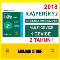 Kaspersky Total Security / Pure 2018 1 PC 2 Tahun
