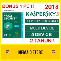 Kaspersky Total Security / Pure 2018 (5 PC + 1 PC) 2 Tahun