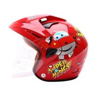 WTO Helmet Kids PET Super Wings Helm Anak - Red