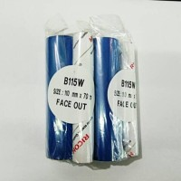 PITA / RIBBON PRINTER BARCODE LABEL RICOH Face out 110mm X 70m BIRU
