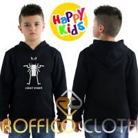 Jaket Sweater Hoodie Anak Agent Venom Unisex - Roffico Kids