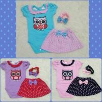 Jual pink tutu - jumper owl bandana - jumper bayi perempuan Murah
