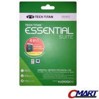 Kaspersky Antivirus 3 user Tech Titan Essential Suite 3 PC Anti Virus
