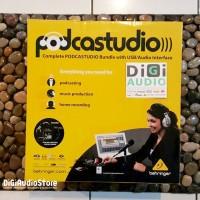 Behringer PODCASTUDIO USB Interface Paket Recording Studio