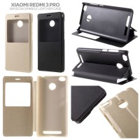 Xiaomi RedMi 3X - Window Leather Case Flip Cover Sarung Dompet Casing