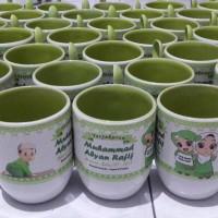 Jual mug sendok oval (mug cereal double tone / warna dalam) Murah