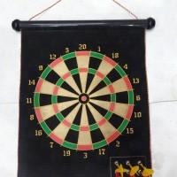 Jual Dart Hanging Double Sided Hanging Magnetic Dart Board Set Game 15 Inch Murah