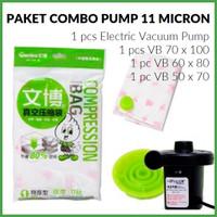 Jual Vacuum Bag/Vakum Bag, Paket Combo Pump 11 micron ( TEBAL ) Murah