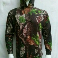 Kaos Panjang CAMO hoodie Real Tree Mossy Oak