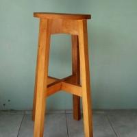 harga Kursi Kayu Tinggi/ Bangku Cafe Bulat Tokopedia.com