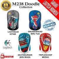Mouse Wireless Logitech M238 Doodle Collection - L079