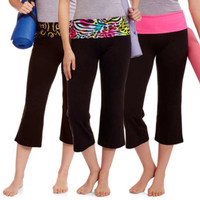 No Boundaries capri yoga pants