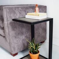 Jual Meja Sudut Bed Side Minimalis Pajangan Industrial IT-002 Murah