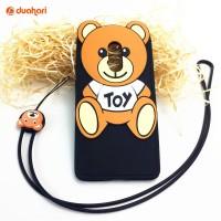 Soft Case Teddy Bear Casing IPHONE 7 / 7 Plus / Samsung S7 Flat