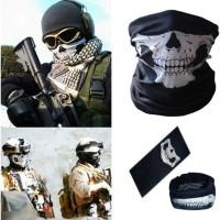 Buf* Bandana Masker Topeng Skull Tengkorak ( motor, sepeda, hiking )
