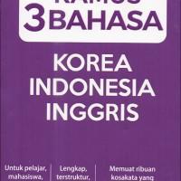 Kamus 3 Bahasa Korea Indonesia Inggris - Lengkap dan Praktis