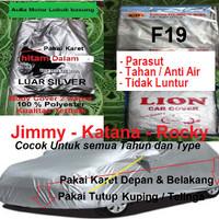 body cover sarung selimut mobil jimny katana silver hitam