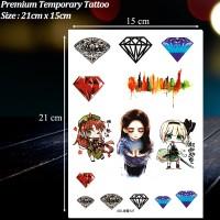 Jual TEMPORARY TATTOO 3D DIAMOND BERLIAN PERMATA TATO TEMPORER - XDL-127 Murah