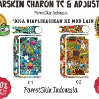 Garskin mod vape SMOANT CHARON TC & ADJUSTABLE doodle art