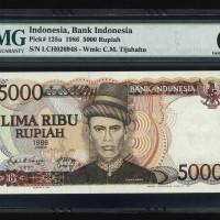 INDONESIA Rp.5000 / 1986 PMG 65 TEUKU UMAR SNLCH 026 948